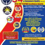 34th Seal of Excellence & Consumers Quality Awards 2015 TOP FILIPINO EXCELLENCE AWARDS